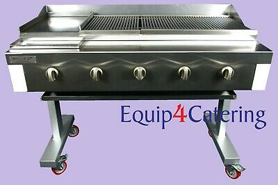5 Burner Gas Charcoal Char Grill Bbq Heavy Duty For Commercial Use (On Stand)