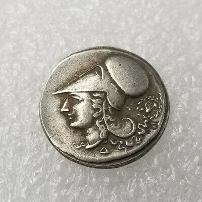 Coin Silver Plated Greek Copper Ancient Athens Pericles Olympic Greece Pins sale