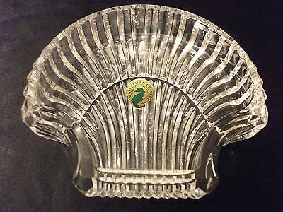 Waterford Crystal Shell Accent Dish Tray Vanity Dresser Candle~Ireland