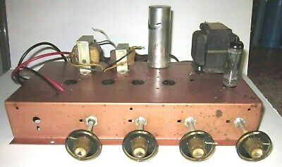 Vintage Westinghouse Single-Ended Tube Stereo Preamp / Amplifier