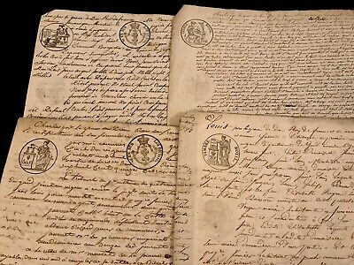 LOT OF FOUR documents 1800s
