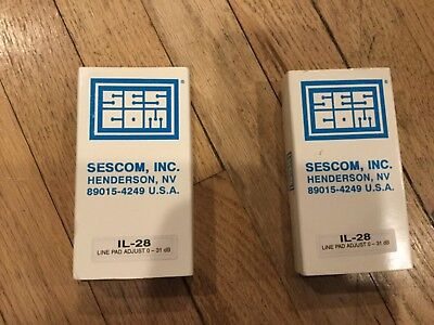 Vintage Nos - Pair Of Sescom Il-28 Adjustable Pad -0-31 Db, 5 Position- Variable