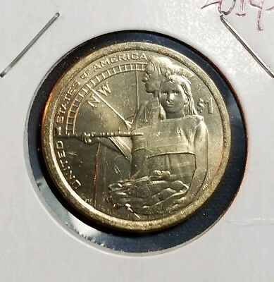 2014-D Sacagawea Native American Dollar - Uncirculated from US Mint Rolls