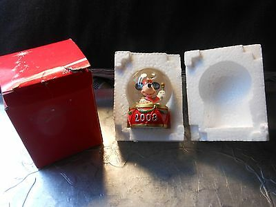 Disney JC Penney SnowGlobe Collectible 2008 In Store Giveaway Mickey Mouse w Box