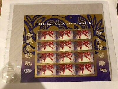 USPS Sealed Package! 2013 #4726 Chinese Lunar New Year Snake Pane of 12 Mint NH