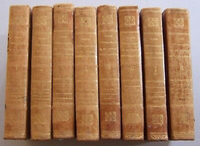 1831 St.THOMAS AQUINAS 8 VOLUMES LA SOMME THEOLOGIQUE HISTORICAL FAITH THEOLOGY