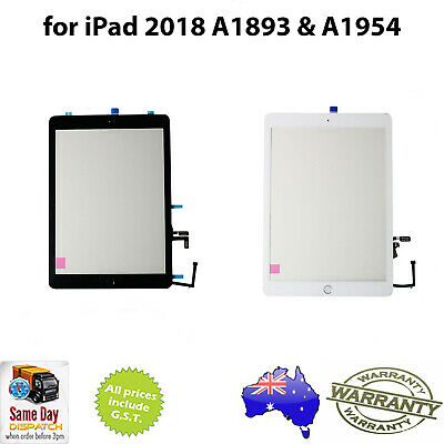 for iPAD 6th Gen (2018) - DIGITIZER ASSEMBLY c/w Adhesive & HOME  - A1893/A1954