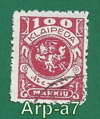 Germany Memel stamps Used 1923 Coat of Arms  (GM20)