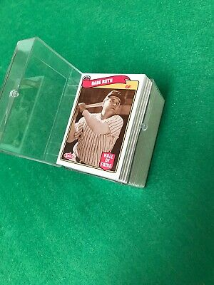 1985 Swell Baseball Hall Of Fame Complete Mint Set 135 Cards Gehrig Ruth Etc.