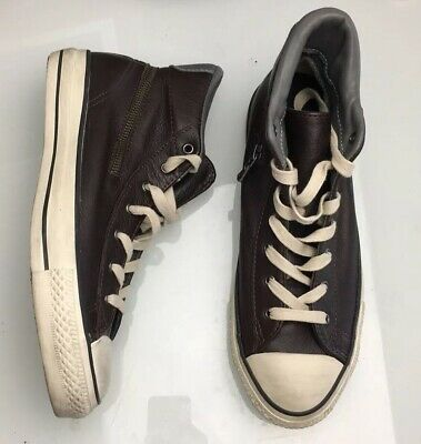 1315b31819ec Converse John Varvatos High Top Brown Leather Sneakers Mens Size 7.5 Womens  9.5