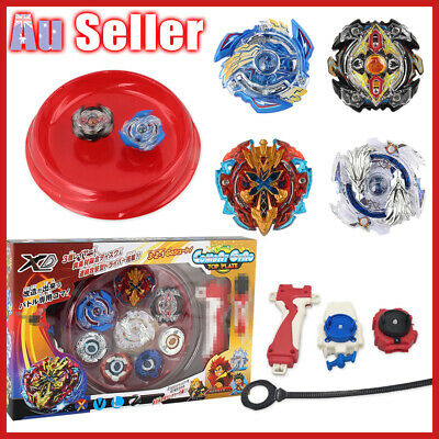 4D Top Fight Metal Fusion Launcher Grip Burst Rare Beyblade Set Rapidity Master