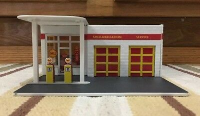 Shell Service Station Decor Plastic Gas Pump Garage Oil Bar Ford Chevy Display