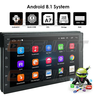 Android 8.1 2Din 7' HD Quad Core GPS Navi Car Stereo MP5 Player FM Radio Wifi 3G