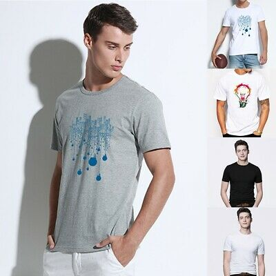0f7f7b0a3fca8 Mens Short Sleeve T Shirt Basic Tee Solid Printing Casual Tops Cotton T- Shirt