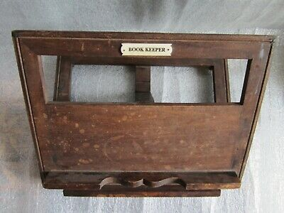 Original Antique Adjustable Wooden Book Stand Easel Holder Display Tabletop