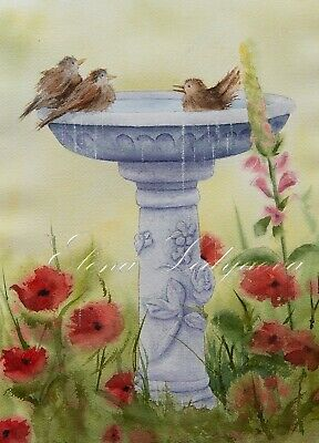 Watercolor painting, original, 33cmx25cm picture, framed