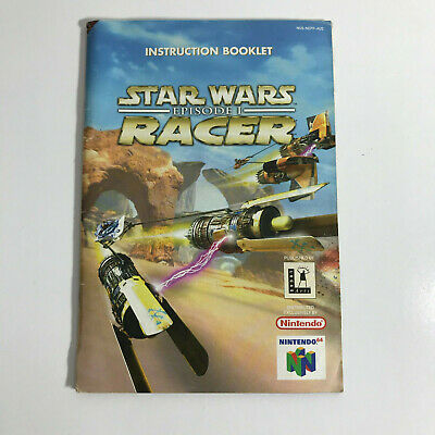 STAR WARS RACER - Nintendo 64 N64 Booklet / Manual / Instruction –Good Condition