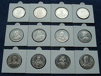 Poland Set Of Coins Prl Gallery Of Polish Kings 12 Pieces Super Lot 12 Pcs Kpl