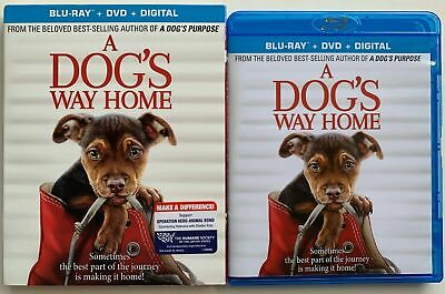 A Dogs Way Home Blu Ray Dvd 2 Disc Set + Slipcover Sleeve Free World Shipping