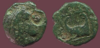 Apollo Kithara Music Ancient Authentic GREEK Coin 1,2 gr/10 mm @ANT1518.9US