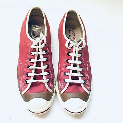 8d228e488beb8b Converse John Varvatos Jack Purcell Red Sneakers Mens 6.5 Women 9 Limited