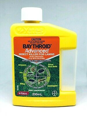 Yates BAYTHROID Advanced Insect Killer Lawn & Garden Insecticide 200ml