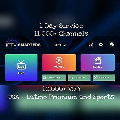IPTV Premium 1 Day Service For Mag+PC+iPad+iPhone+Tablet+All Android TV Box