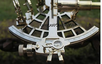 Brass Vintage Sextant 9'' Maritime Collectible Astrolabe Ship Gift.