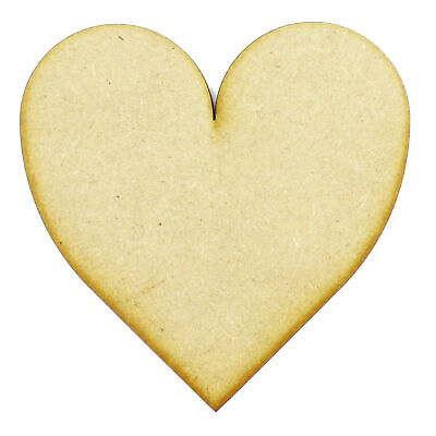 100mm Hearts Wooden Craft Shapes 3mm MDF, Ply, Tags Embellishments