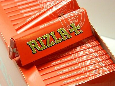 15 packs of rizla RED small standard regular rolling papers