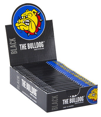 5 x The bulldog Amsterdam Black Rolling Papers. 1 1/4 size.
