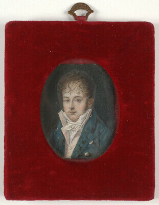"""""""Portrait of a young French gentleman"""", miniature, 1800/05"""