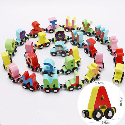 Alphabet Wooden Colourful Train letters for Personalized name Children Gift New