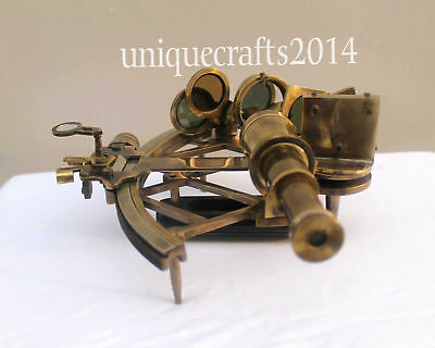 """Royal Brass 9"""" Heavy Nautical Maritime Collectible  Sextant Ship Working Item."""
