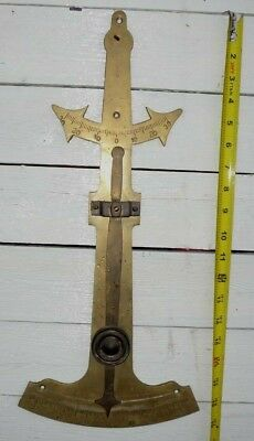 Vintage Brass Inclinometer Boat Level Wall Hanger Nautical Decor