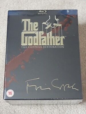 The Godfather The Coppola Restoration Blu Ray 4 Disc Box Set New & Sealed