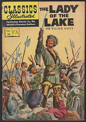 British Classics Illustrated: THE LADY OF THE LAKE No.28 HRN126