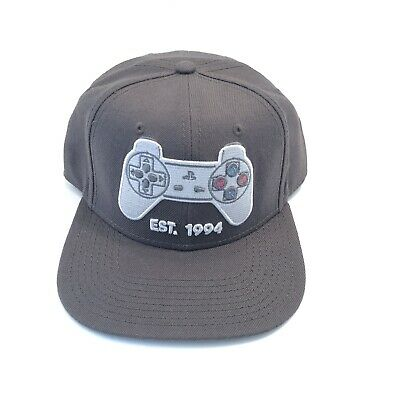 best service 9e66b e4b10 Sony Playstation Controller Snapback PS1 Grey Baseball Hat Adjustable Cap  Adult