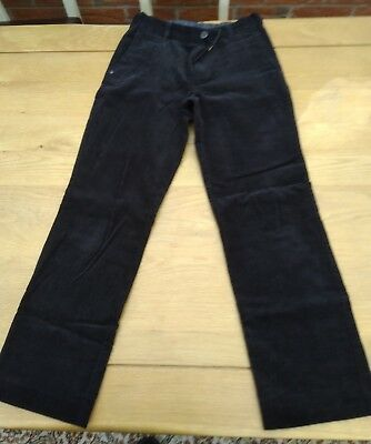 Marks & Spencer M&S Autograph Corduray Kids Trousers Black W25 H55 10yrs - 100%