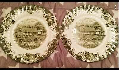 2 Platos Decorativos English country life