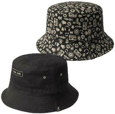 93f2afbb New Licensed Mens Kangol Radio ON AIR Reversible Bucket Hat Size M ___S150