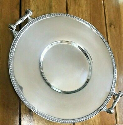 Antique Derby SP CO. International 4439 Decorative Silver Serving Dish Initialed