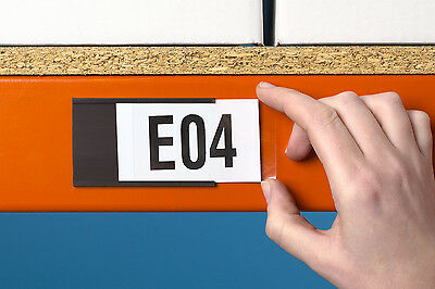 Magnetic Label Holders for Warehouses & Schools 30mm High x 70mm Long Pk=100