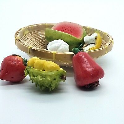 10pcs Many Kinds Of Fruit Miniature Dollhouse Kitchen Decor Handmade Food·Supply