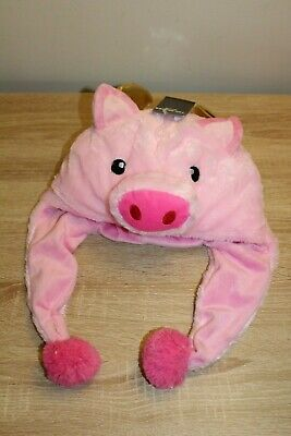 NEW Men's Plush Head Wear Pig with Wings One Size by Top Drawer