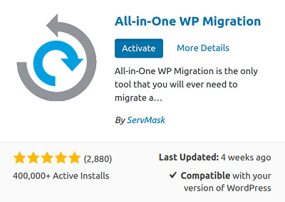 AIOWPM All-in-one WP Migration Unlimited Extension Wordpress Plugin By ServMask