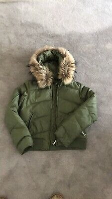 3da44b57d1c ANDREW MARC FUR Accented Leather Hooded Jacket Size Small Bomber ...