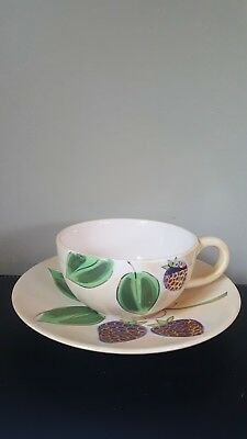 Whittard of Chelsea Hand Painted Lustre Gold Gilt Breakfast Cup/Saucer