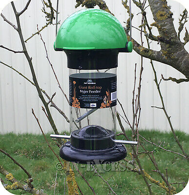Tom Chambers Giant Hanging Green Roll-Top Nyjer Seed Garden Bird Feeder (588)
