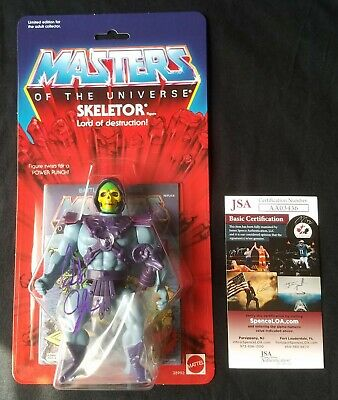 Masters of the Universe Commemorative Skeletor Figure Signed Alan Oppenheimer